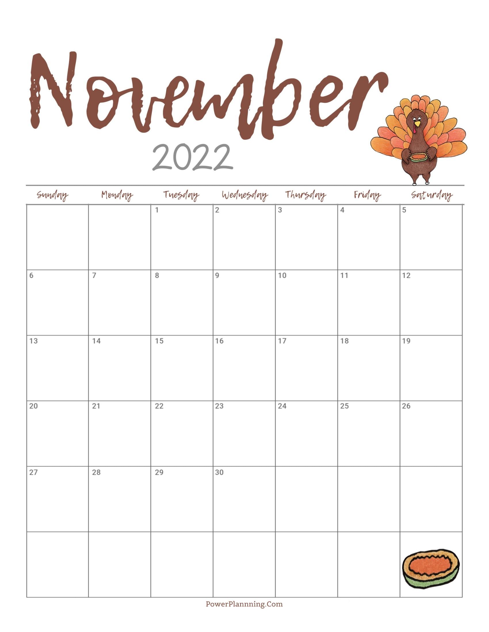 Cute November 2022 Calendar